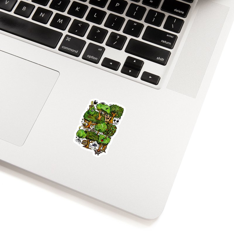 Into the Green Accessories Sticker by vtavast's Artist Shop