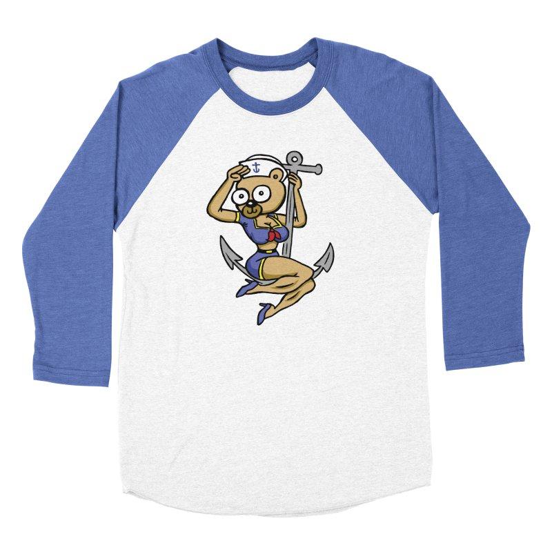 Sailor Bear Men's Baseball Triblend Longsleeve T-Shirt by vtavast's Artist Shop