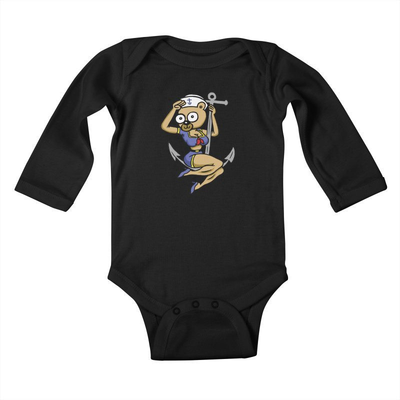 Sailor Bear Kids Baby Longsleeve Bodysuit by vtavast's Artist Shop