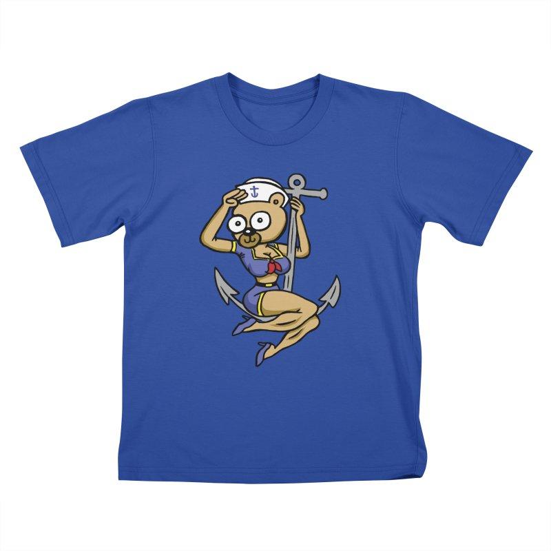 Sailor Bear Kids T-Shirt by vtavast's Artist Shop