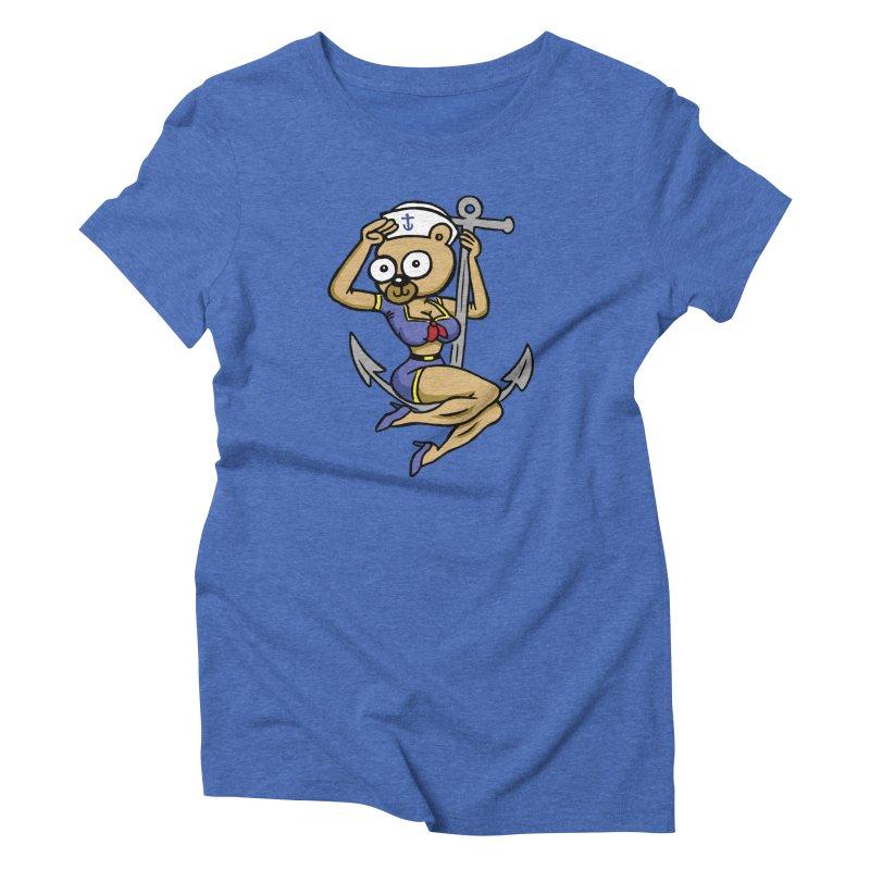 Sailor Bear Women's Triblend T-Shirt by vtavast's Artist Shop