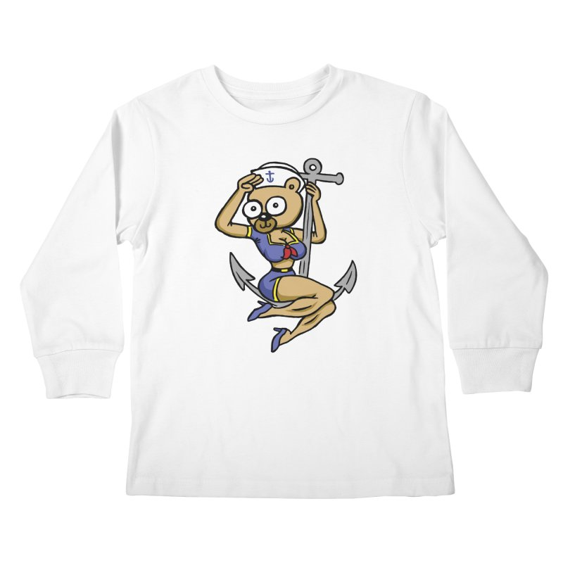 Sailor Bear Kids Longsleeve T-Shirt by vtavast's Artist Shop