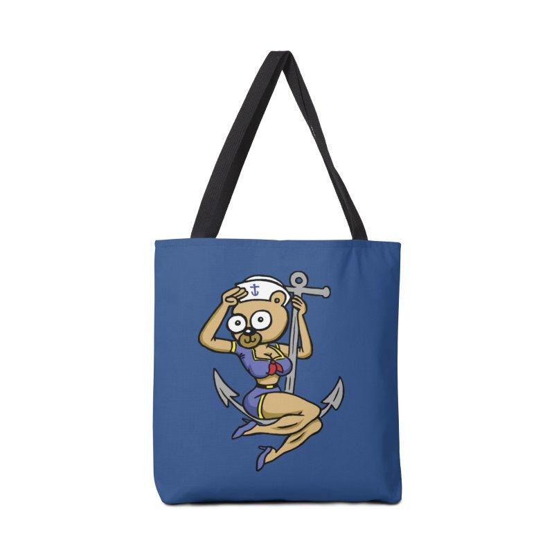 Sailor Bear Accessories Bag by vtavast's Artist Shop