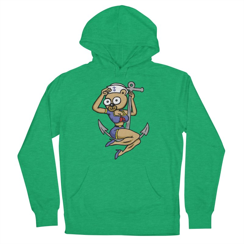 Sailor Bear Men's French Terry Pullover Hoody by vtavast's Artist Shop