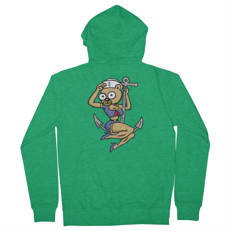 Sailor Bear Men's French Terry Zip-Up Hoody by vtavast's Artist Shop