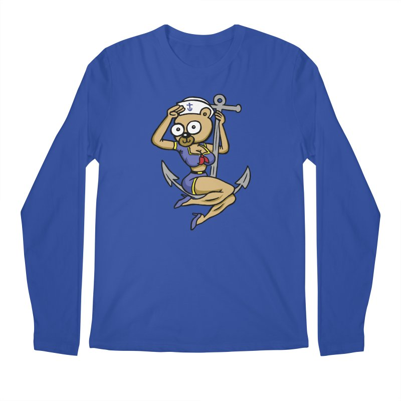 Sailor Bear Men's Regular Longsleeve T-Shirt by vtavast's Artist Shop