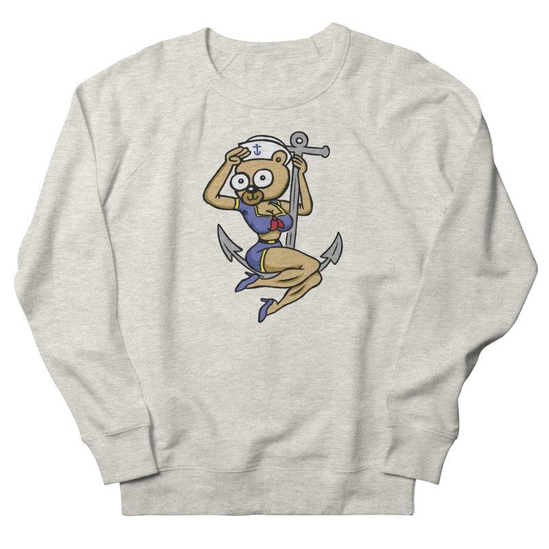 Sailor Bear Men's French Terry Sweatshirt by vtavast's Artist Shop