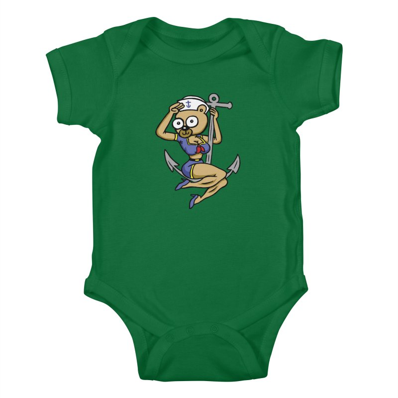 Sailor Bear Kids Baby Bodysuit by vtavast's Artist Shop
