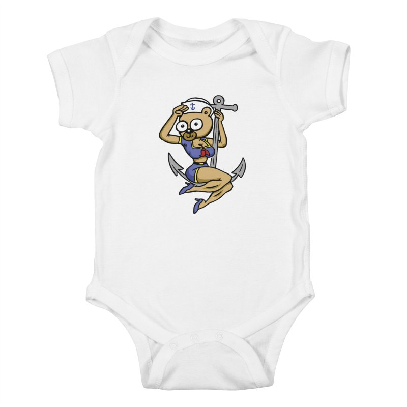 Sailor Bear Kids Baby Bodysuit by vtavast's Artist Shop