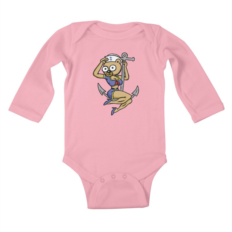 Sailor Bear Kids Baby Longsleeve Bodysuit by vtavast's Artist Shop