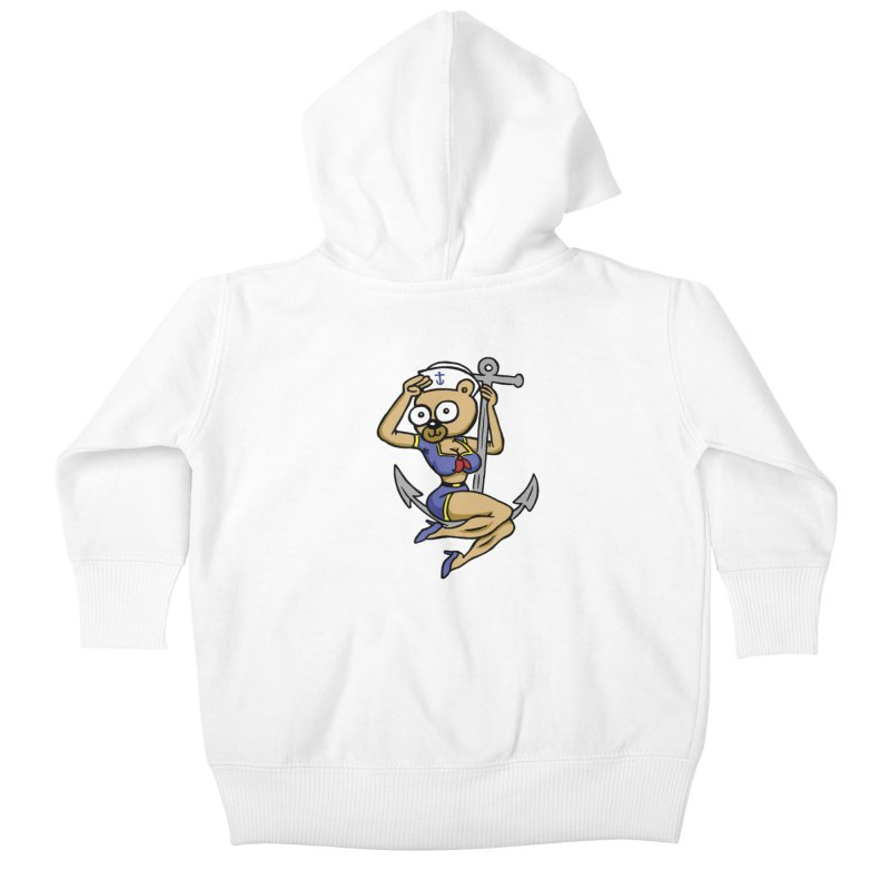 Sailor Bear Kids Baby Zip-Up Hoody by vtavast's Artist Shop