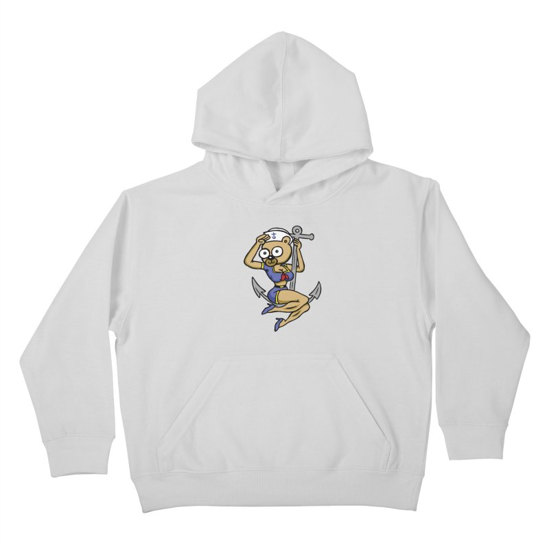 Sailor Bear Kids Pullover Hoody by vtavast's Artist Shop