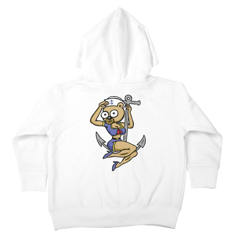 Sailor Bear Kids Toddler Zip-Up Hoody by vtavast's Artist Shop