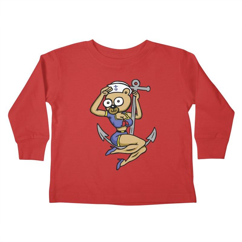 Sailor Bear Kids Toddler Longsleeve T-Shirt by vtavast's Artist Shop