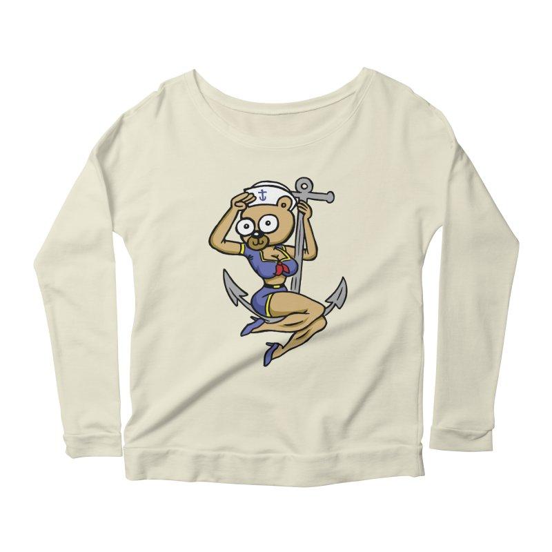 Sailor Bear Women's Scoop Neck Longsleeve T-Shirt by vtavast's Artist Shop