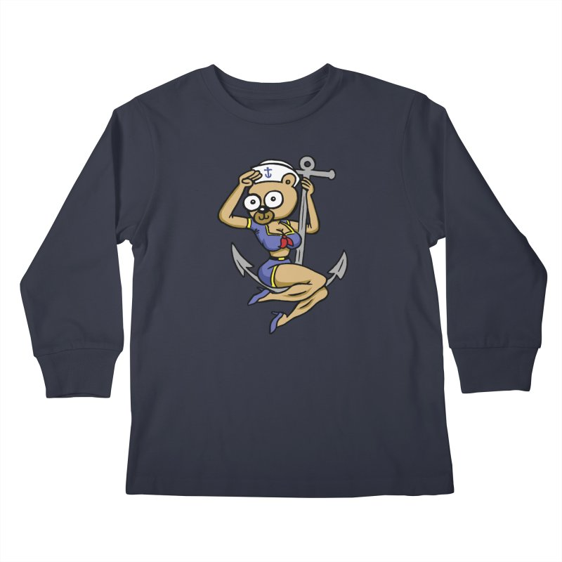Sailor Bear Kids Longsleeve T-Shirt by vtavast's Artist Shop