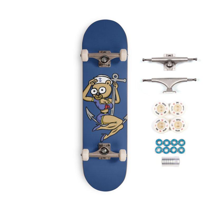 Sailor Bear Accessories Skateboard by vtavast's Artist Shop