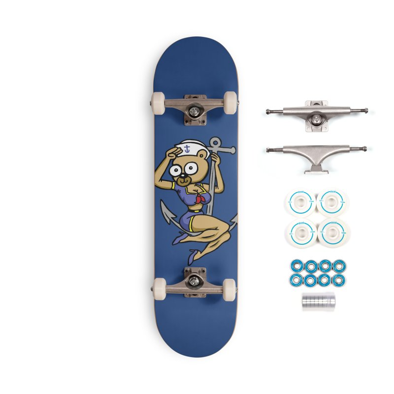 Sailor Bear Accessories Skateboard by vtavast's Artist Shop