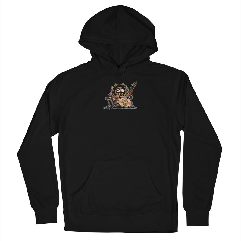 Rockin' Bear Women's French Terry Pullover Hoody by vtavast's Artist Shop