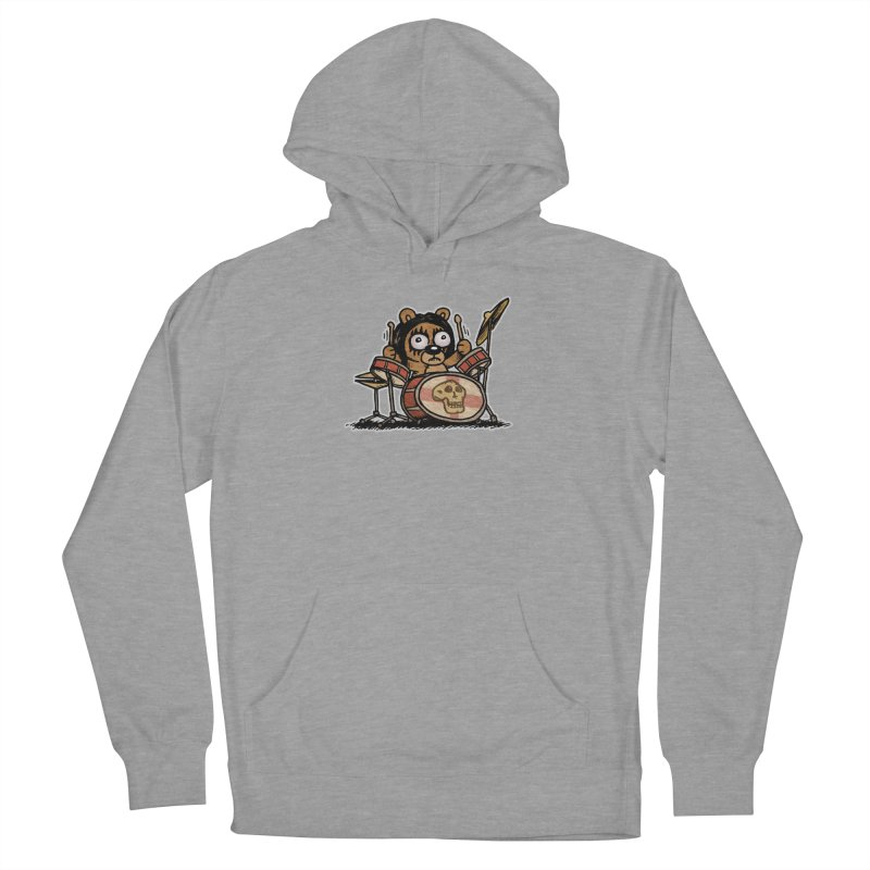 Rockin' Bear Men's French Terry Pullover Hoody by vtavast's Artist Shop