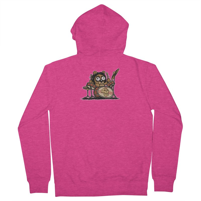 Rockin' Bear Women's French Terry Zip-Up Hoody by vtavast's Artist Shop