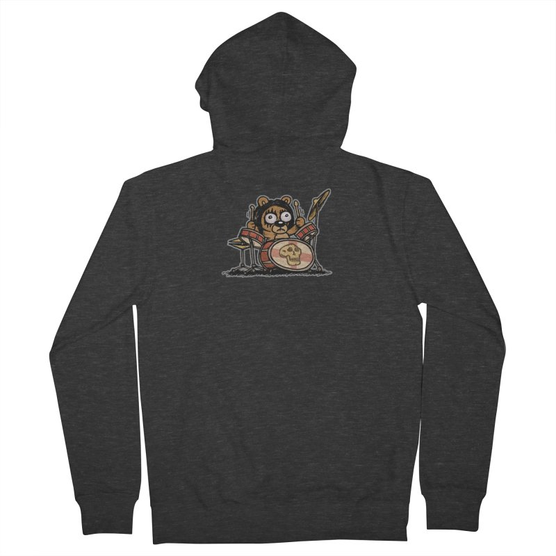 Rockin' Bear Men's French Terry Zip-Up Hoody by vtavast's Artist Shop