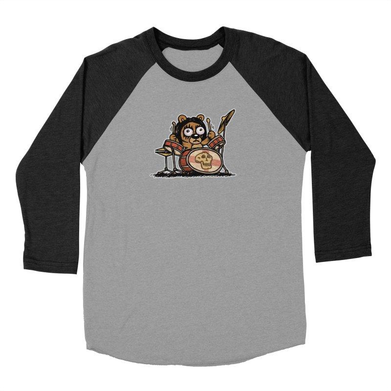 Rockin' Bear Women's Baseball Triblend Longsleeve T-Shirt by vtavast's Artist Shop