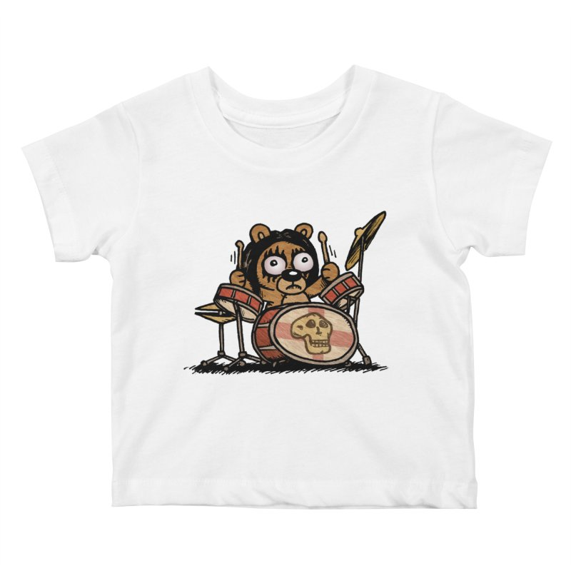 Rockin' Bear Kids Baby T-Shirt by vtavast's Artist Shop