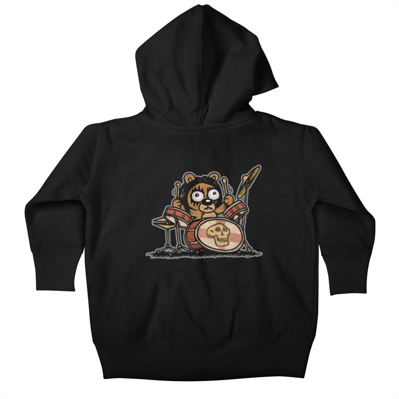 Rockin' Bear Kids Baby Zip-Up Hoody by vtavast's Artist Shop