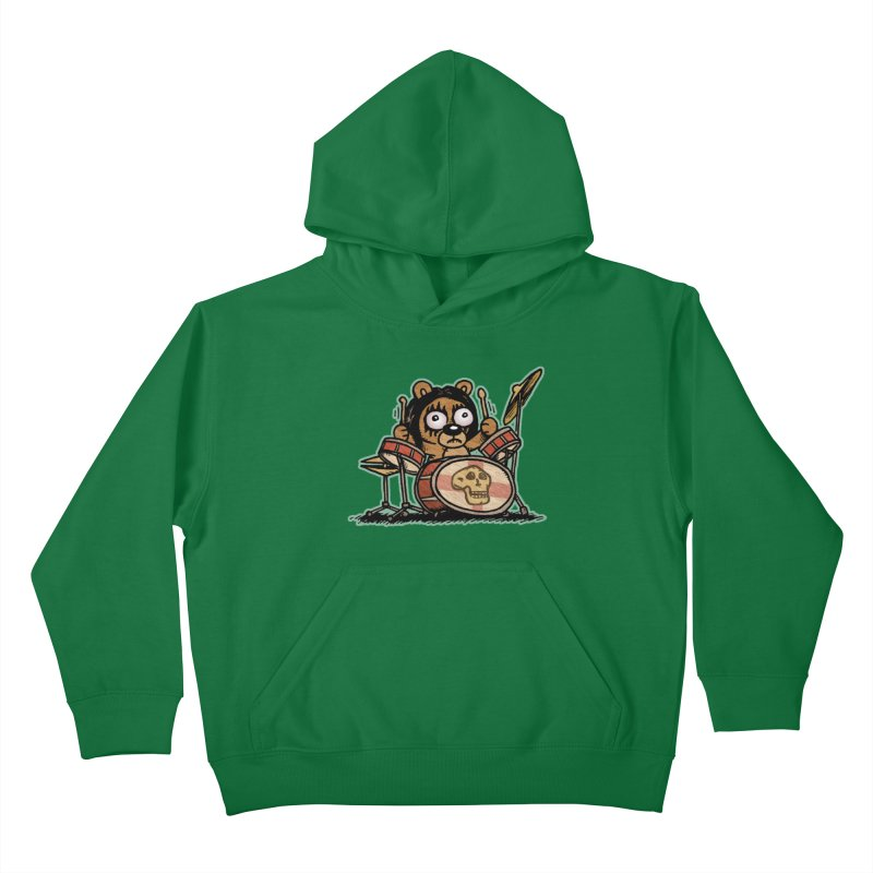 Rockin' Bear Kids Pullover Hoody by vtavast's Artist Shop