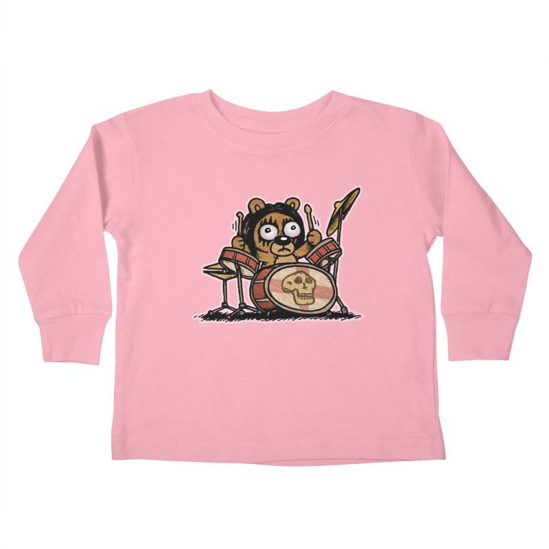 Rockin' Bear Kids Toddler Longsleeve T-Shirt by vtavast's Artist Shop