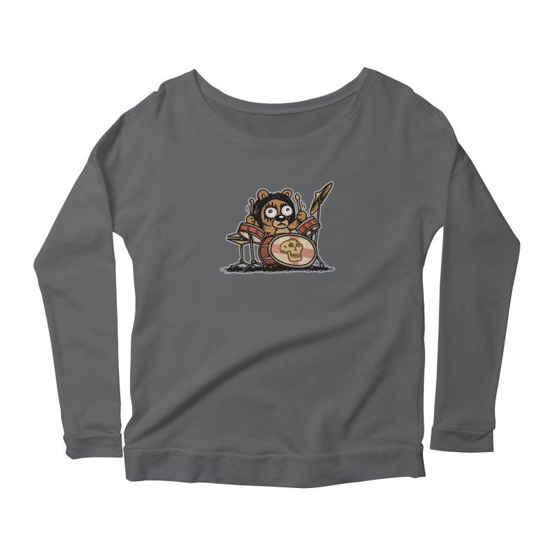 Rockin' Bear Women's Scoop Neck Longsleeve T-Shirt by vtavast's Artist Shop