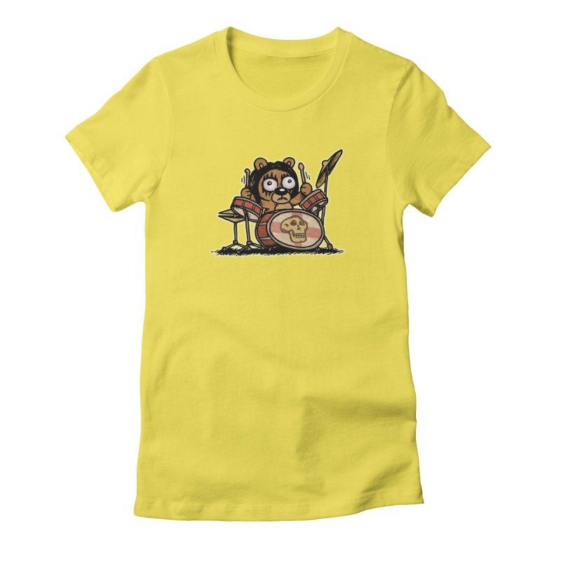 Rockin' Bear Women's Fitted T-Shirt by vtavast's Artist Shop