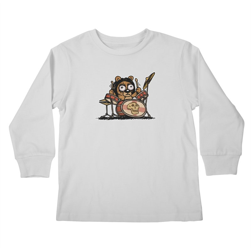 Rockin' Bear Kids Longsleeve T-Shirt by vtavast's Artist Shop