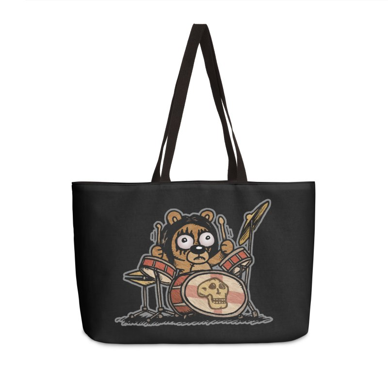 Rockin' Bear Accessories Weekender Bag Bag by vtavast's Artist Shop