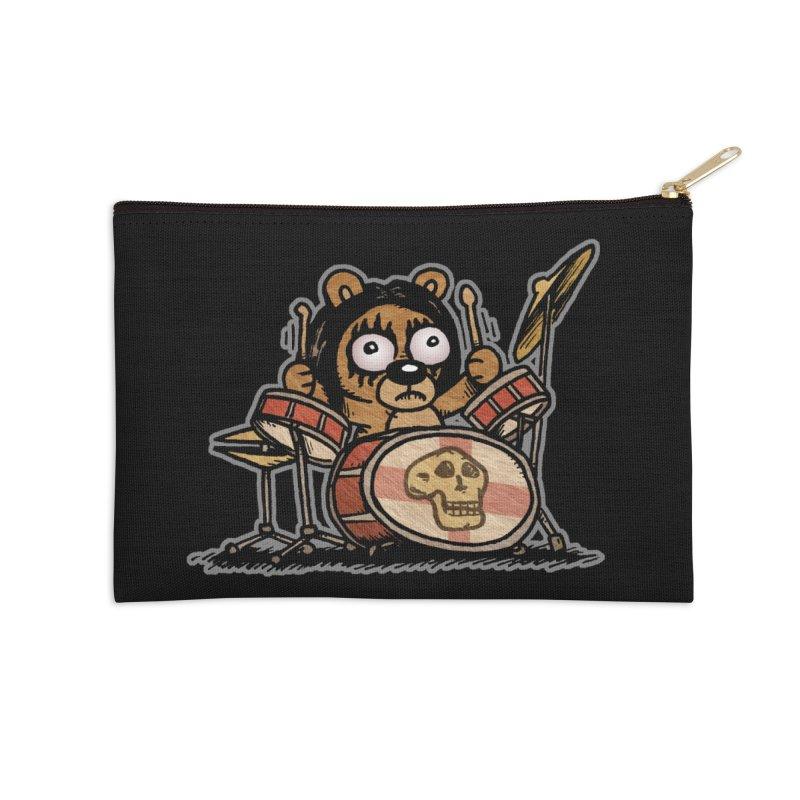 Rockin' Bear Accessories Zip Pouch by vtavast's Artist Shop