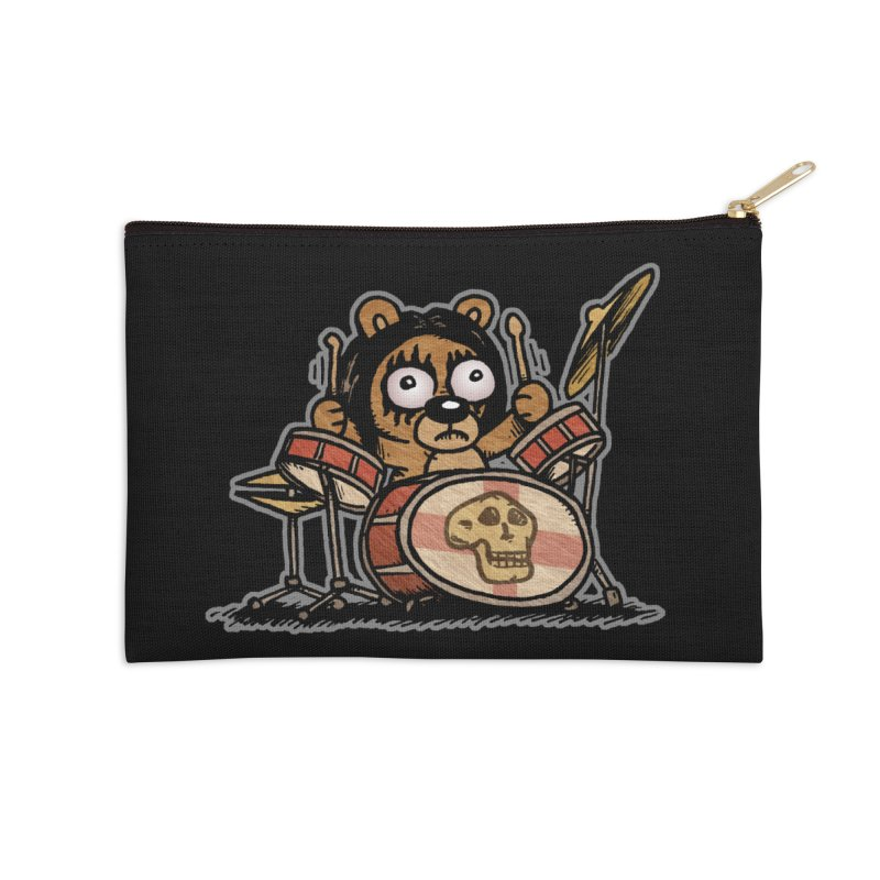 Rockin' Bear Accessories Zip Pouch by vtavast's Artist Shop