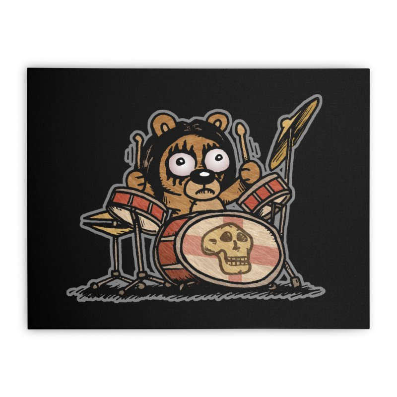 Rockin' Bear Home Stretched Canvas by vtavast's Artist Shop