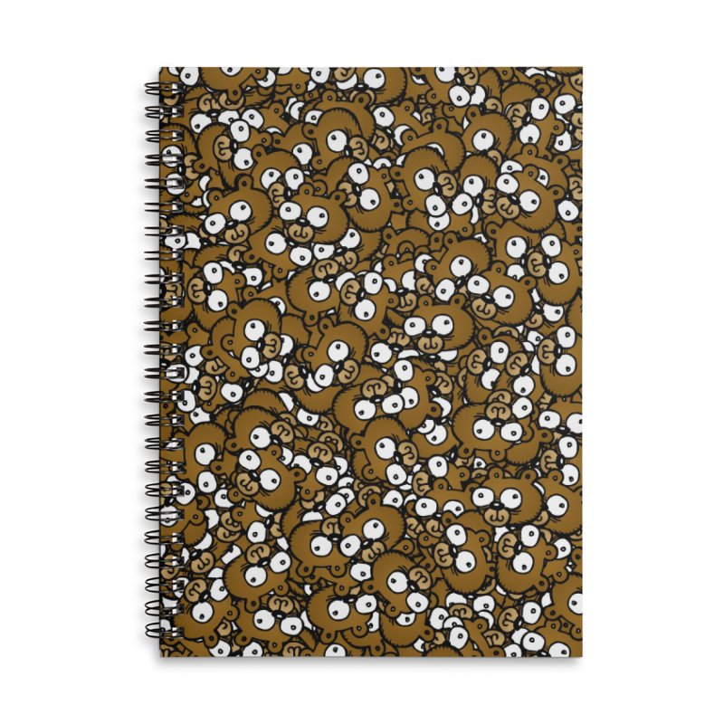Bears for Days Accessories Lined Spiral Notebook by vtavast's Artist Shop