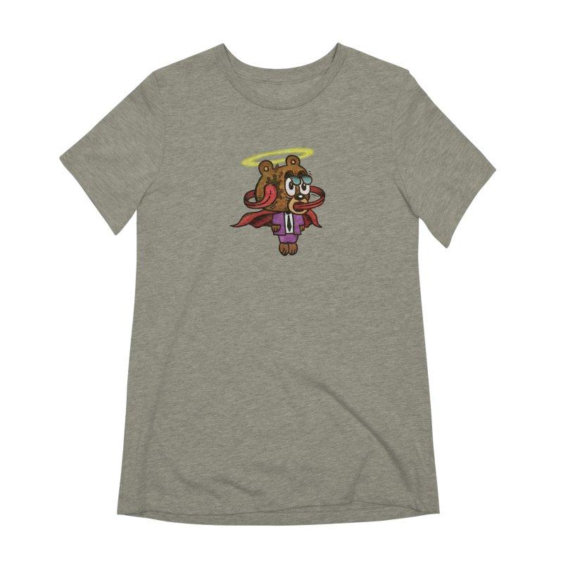Super Duper Bear Women's Extra Soft T-Shirt by vtavast's Artist Shop