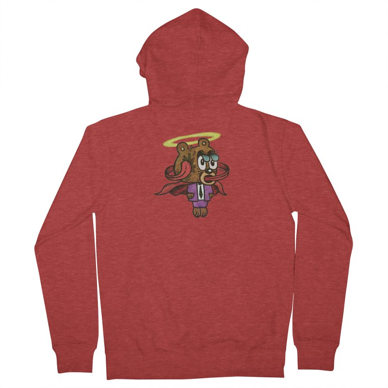 Super Duper Bear Men's French Terry Zip-Up Hoody by vtavast's Artist Shop