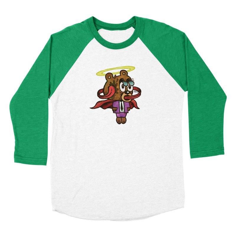 Super Duper Bear Women's Baseball Triblend Longsleeve T-Shirt by vtavast's Artist Shop