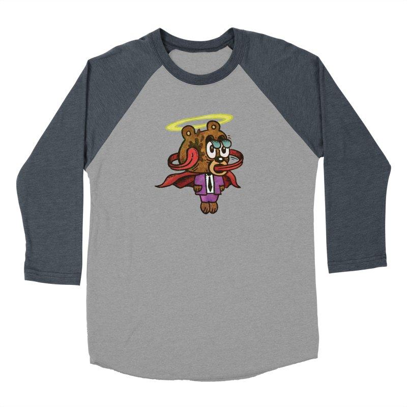 Super Duper Bear Men's Baseball Triblend Longsleeve T-Shirt by vtavast's Artist Shop