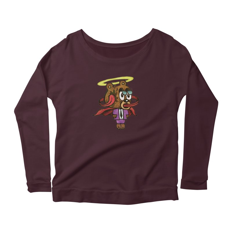 Super Duper Bear Women's Scoop Neck Longsleeve T-Shirt by vtavast's Artist Shop