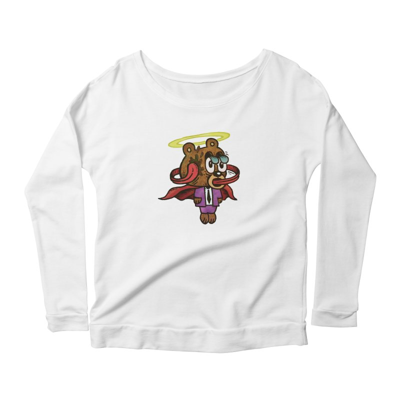 Super Duper Bear Women's Scoop Neck Longsleeve T-Shirt by vtavast's Artist Shop