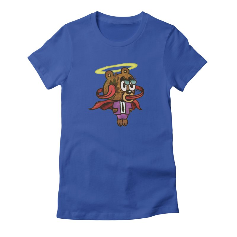 Super Duper Bear Women's Fitted T-Shirt by vtavast's Artist Shop