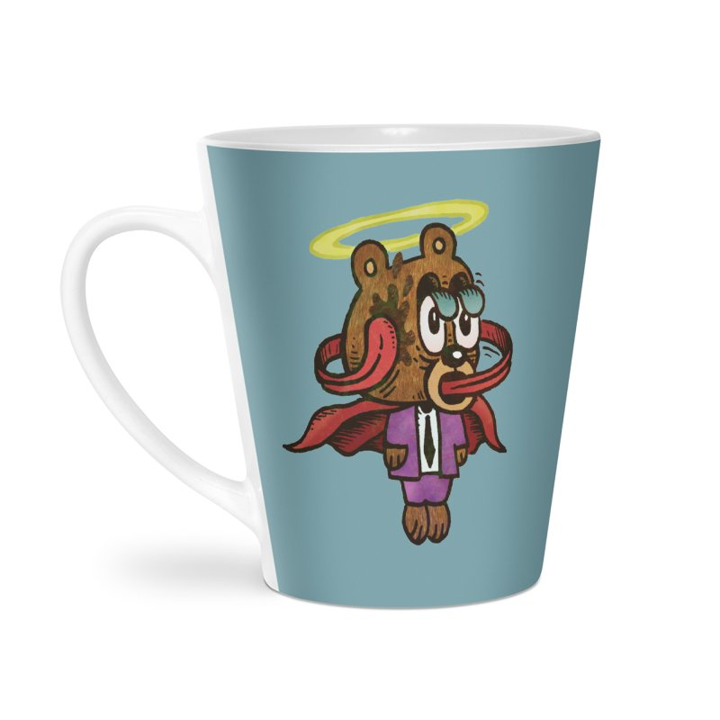 Super Duper Bear Accessories Latte Mug by vtavast's Artist Shop