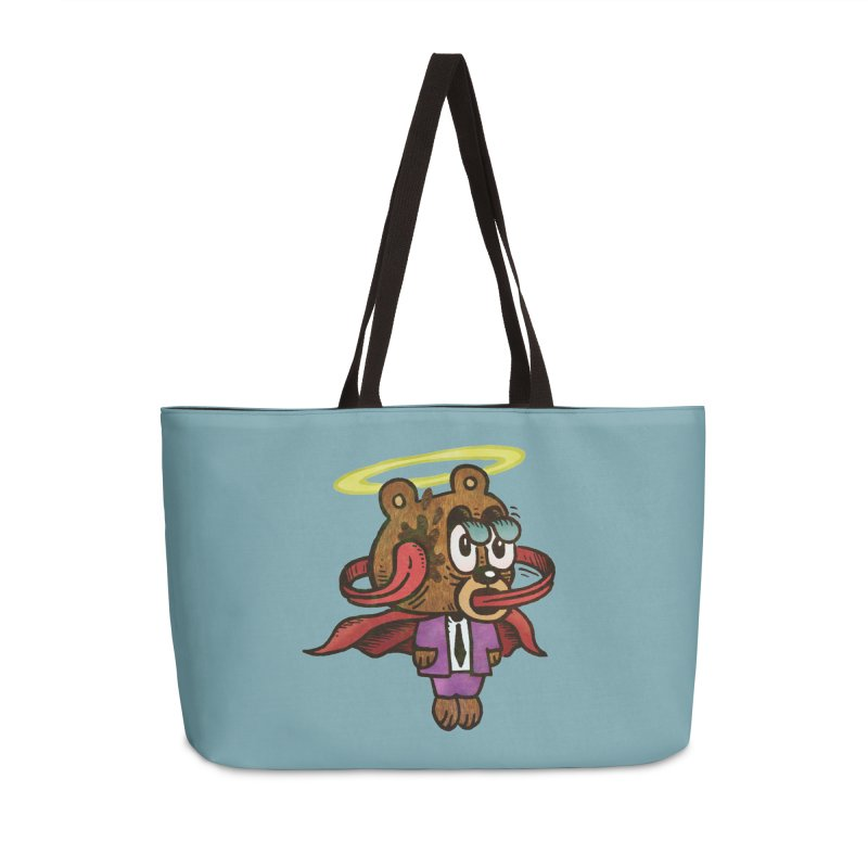 Super Duper Bear Accessories Weekender Bag Bag by vtavast's Artist Shop