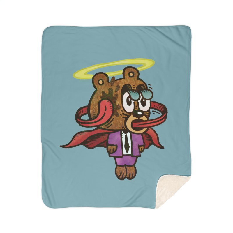Super Duper Bear Home Sherpa Blanket Blanket by vtavast's Artist Shop