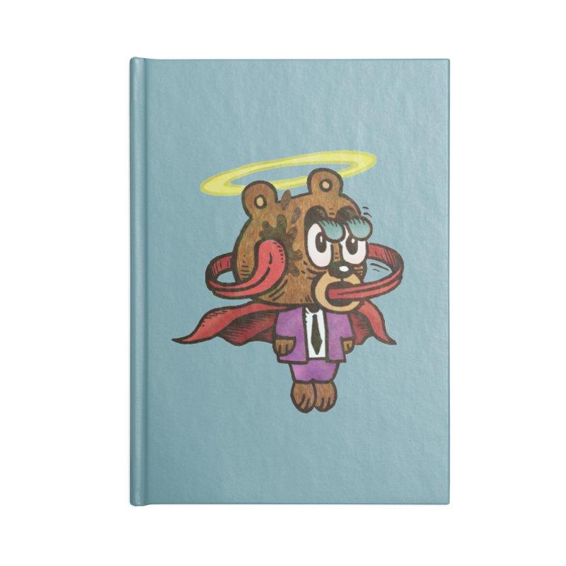Super Duper Bear Accessories Lined Journal Notebook by vtavast's Artist Shop